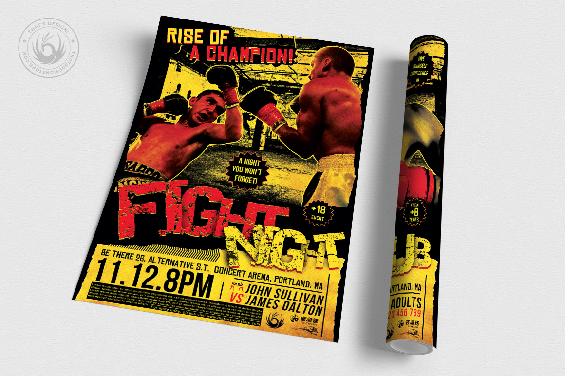 Fight Night Flyer Template V1 example image 3