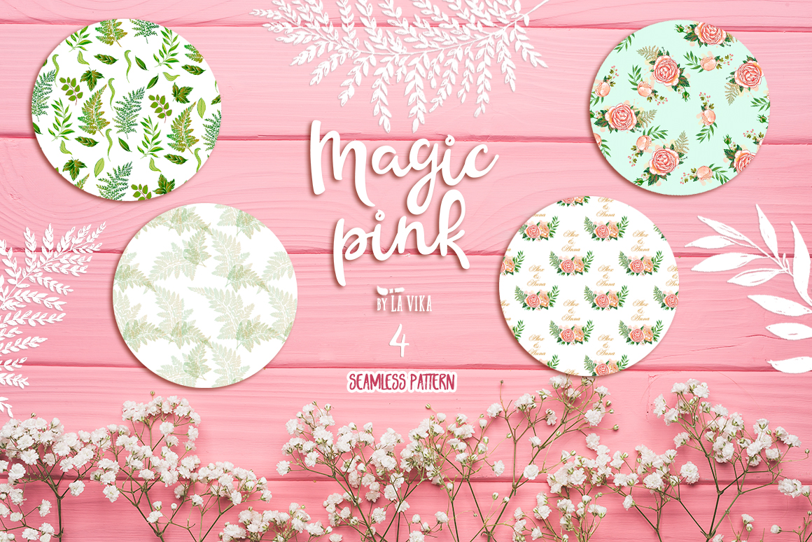 Vector graphics collection: Magic pink example image 4