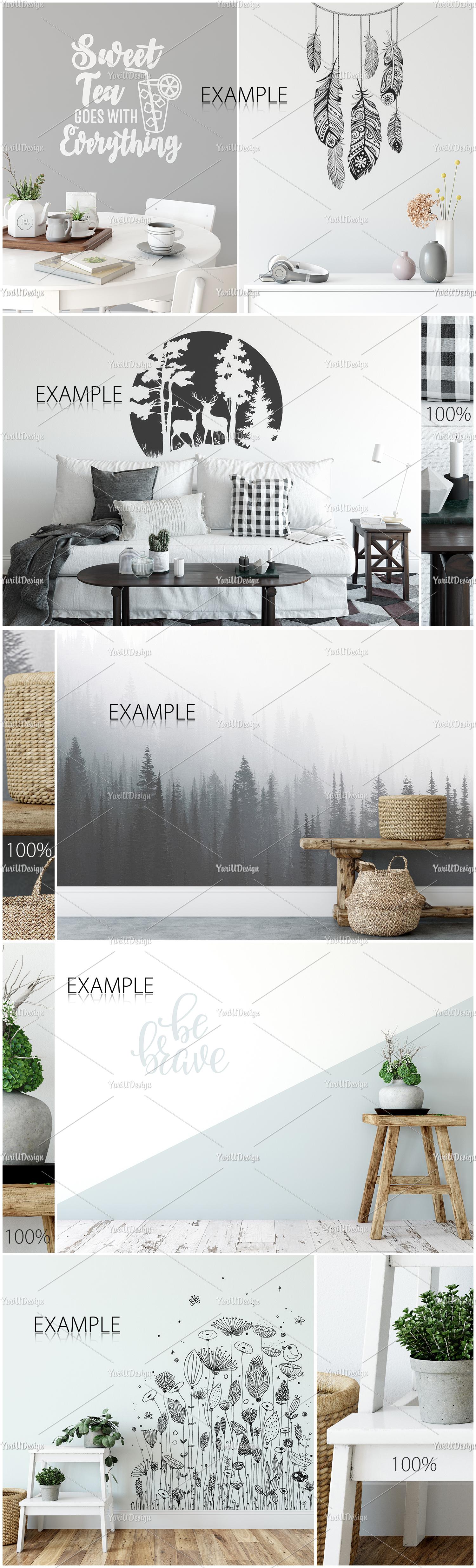 Scandinavian Interior Frames & Walls Mockup Bundle example image 10