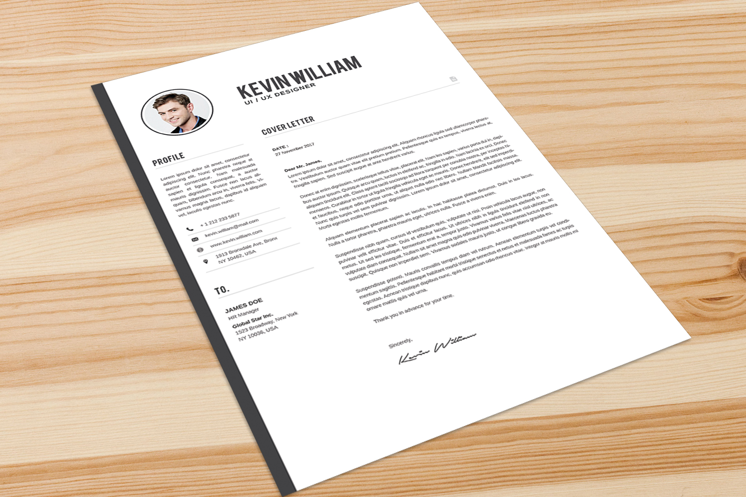 Resume Template example image 4