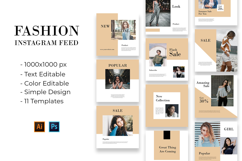 Fashion Instagram Feed Vol. 1 example image 1