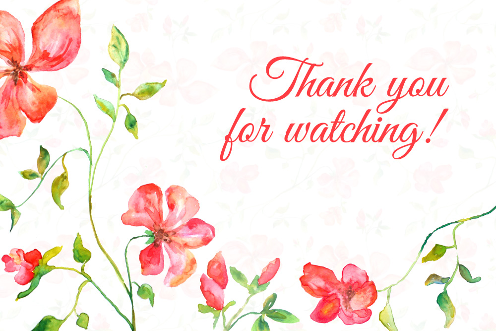 Red Blooming Flowers - Handmade watercolor design kit  example image 2