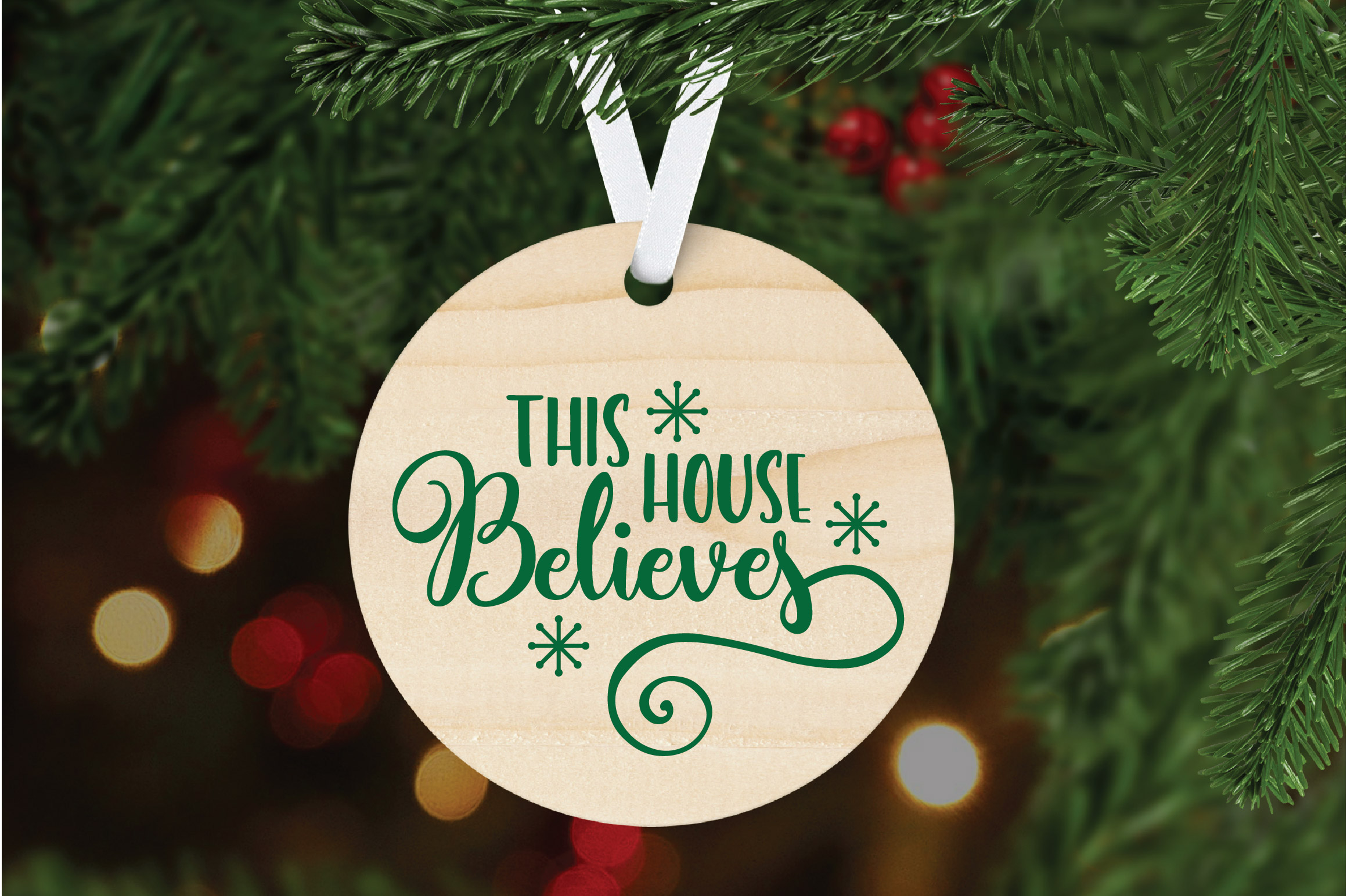 Christmas SVG Cut File - This House Believes SVG DXF PNG EPS example image 7