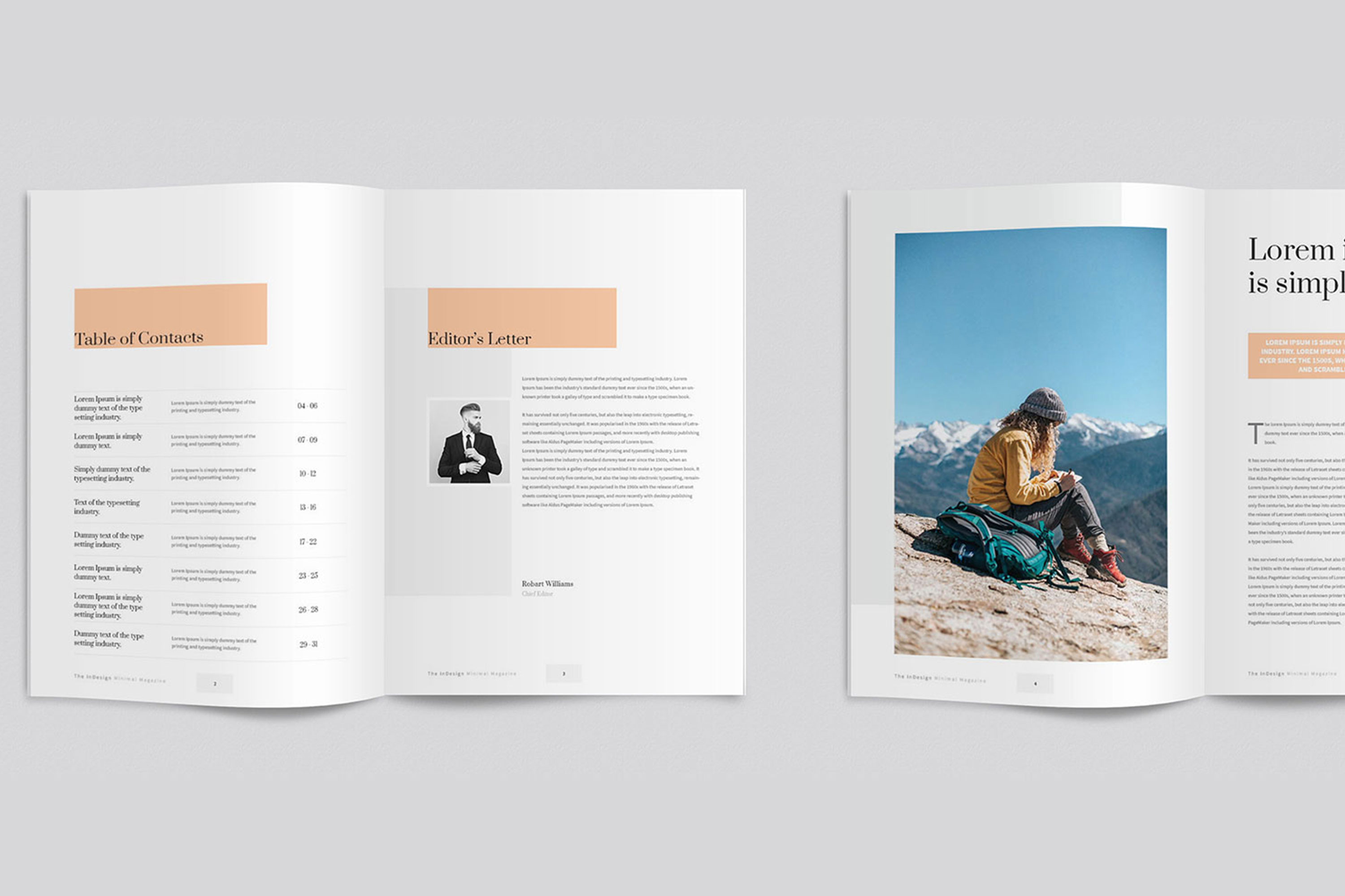 Modern InDesign Magazine Template example image 3
