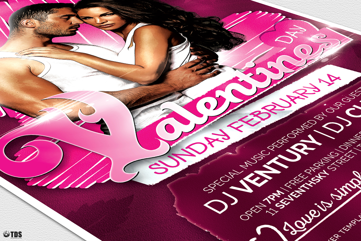 Valentines Day Flyer Template V7 example image 6