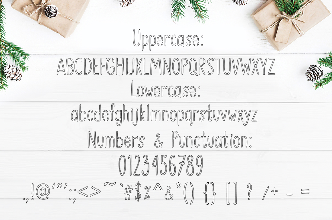 SNOWLAND - hand drawn winter font example image 4