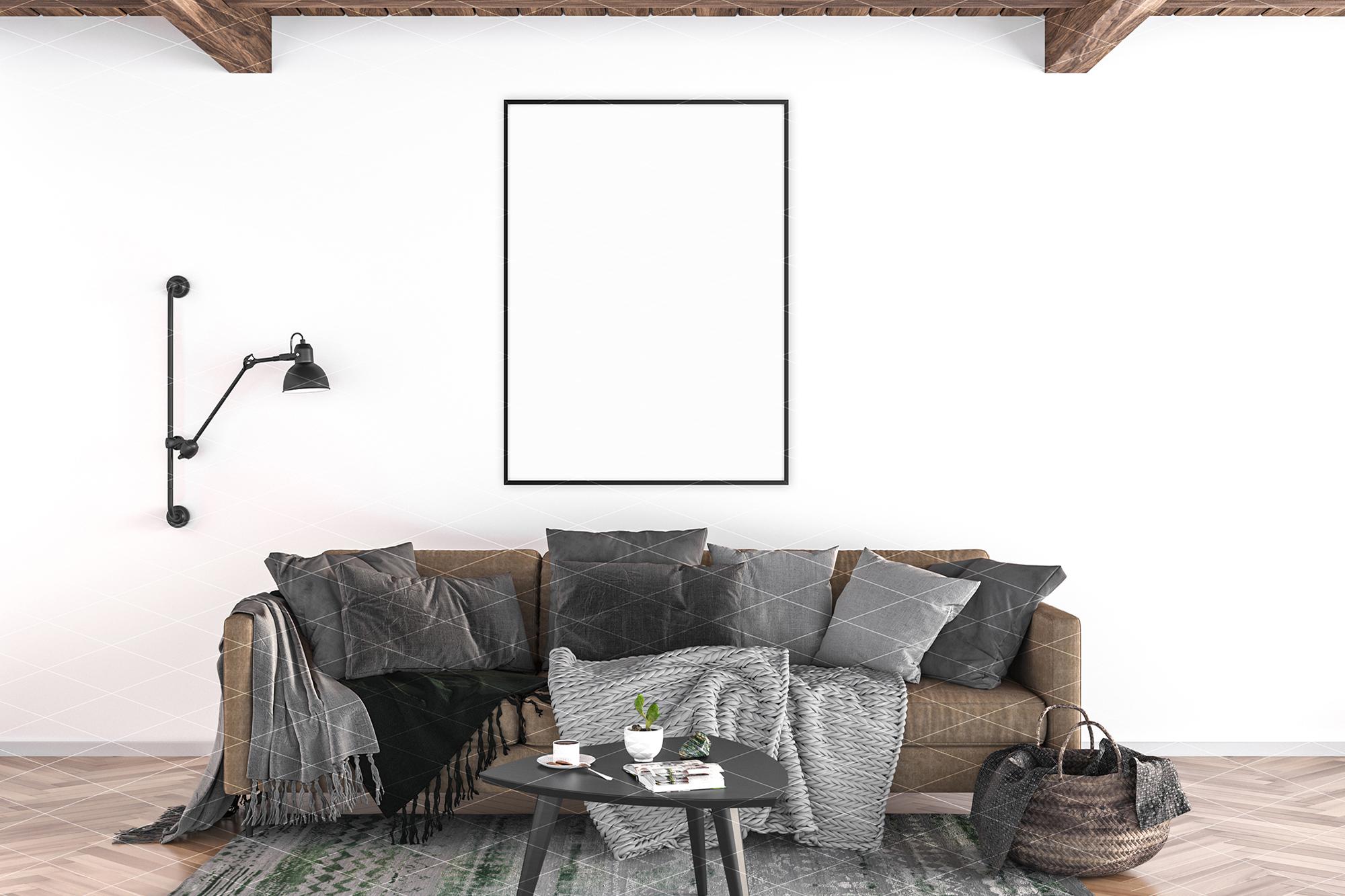 Interior mockup - artwork background example image 4