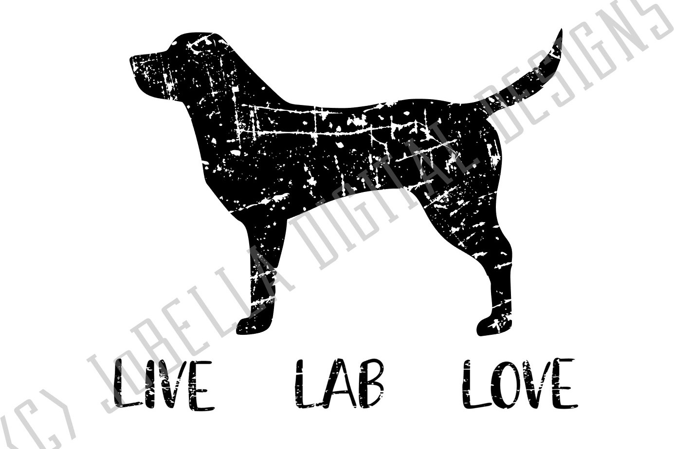 Distressed Labrador SVG and Printable Dog Lover Design example image 3