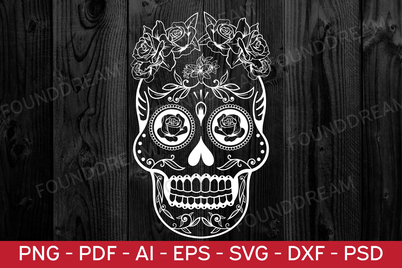Sugar Skull SVG cut file example image 4