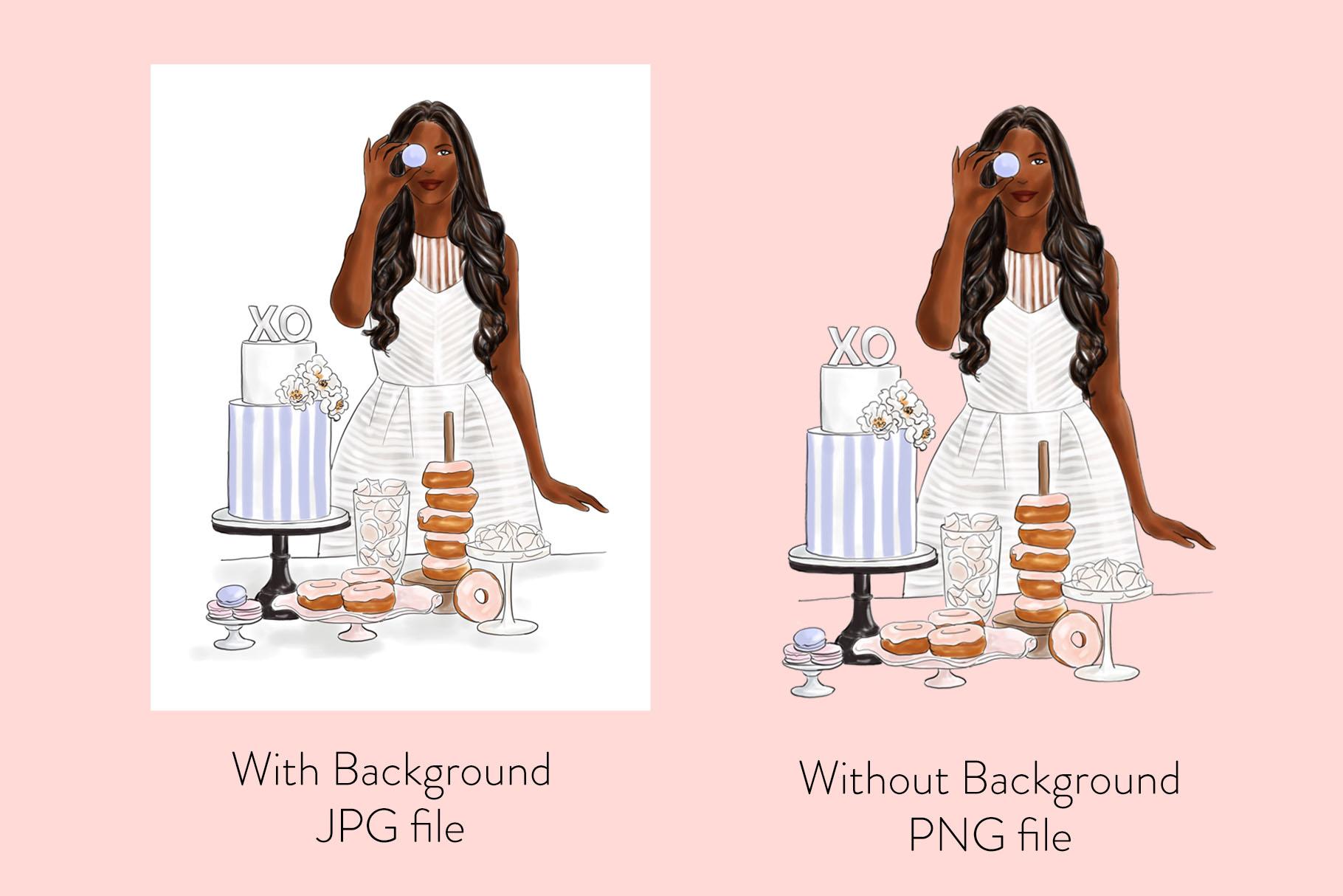 Fashion illustration - Baker Girl - Dark Skin example image 2