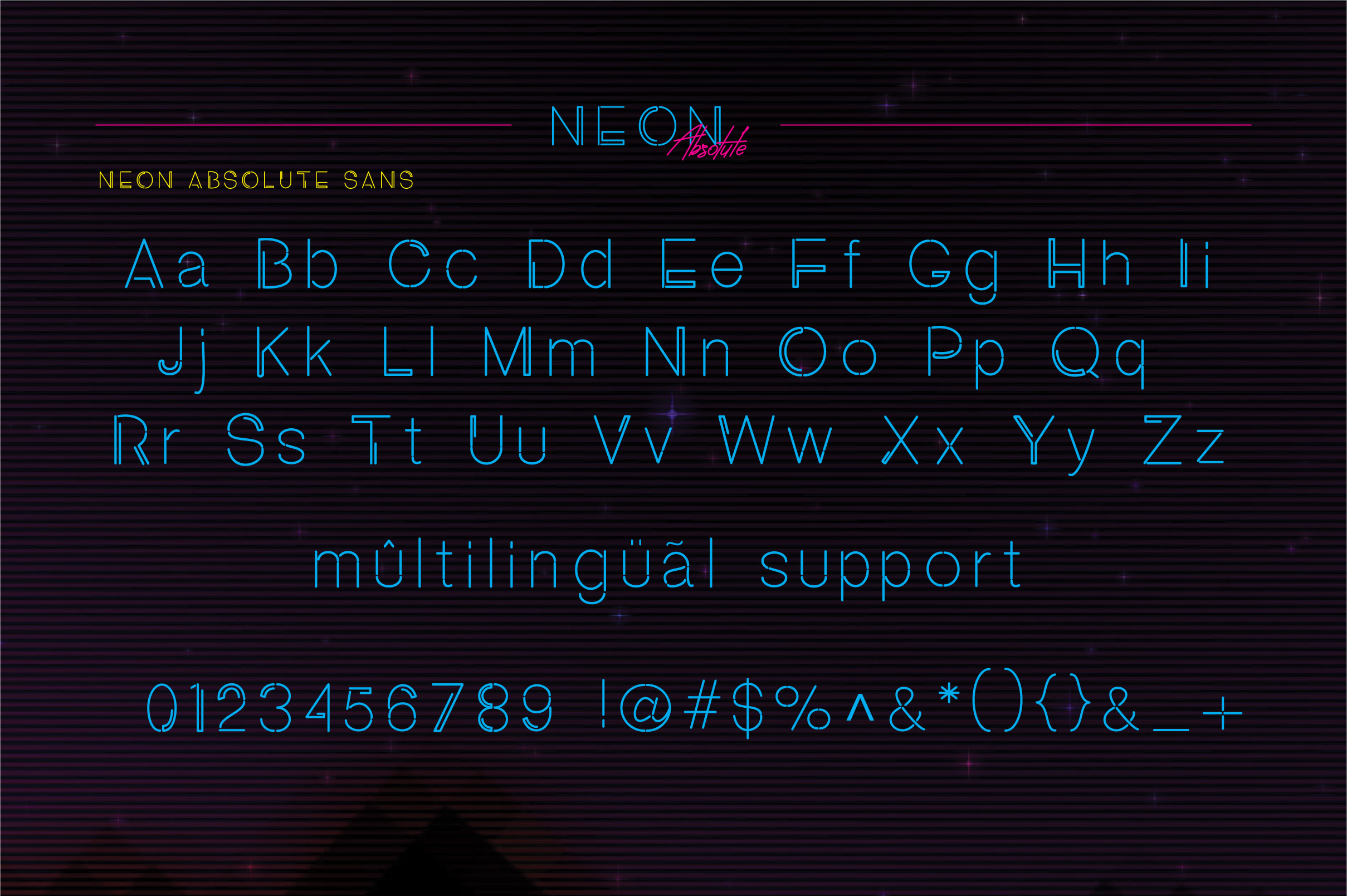 Neon Absolute - Font Duo example image 6