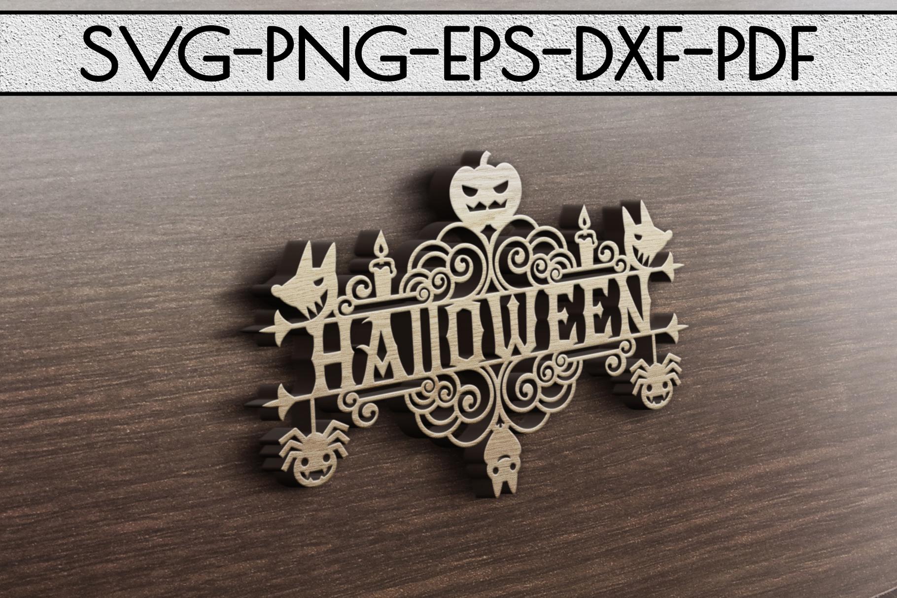 Happy Halloween Papercut Templates Bundle, Spooky, PDF, SVG example image 3