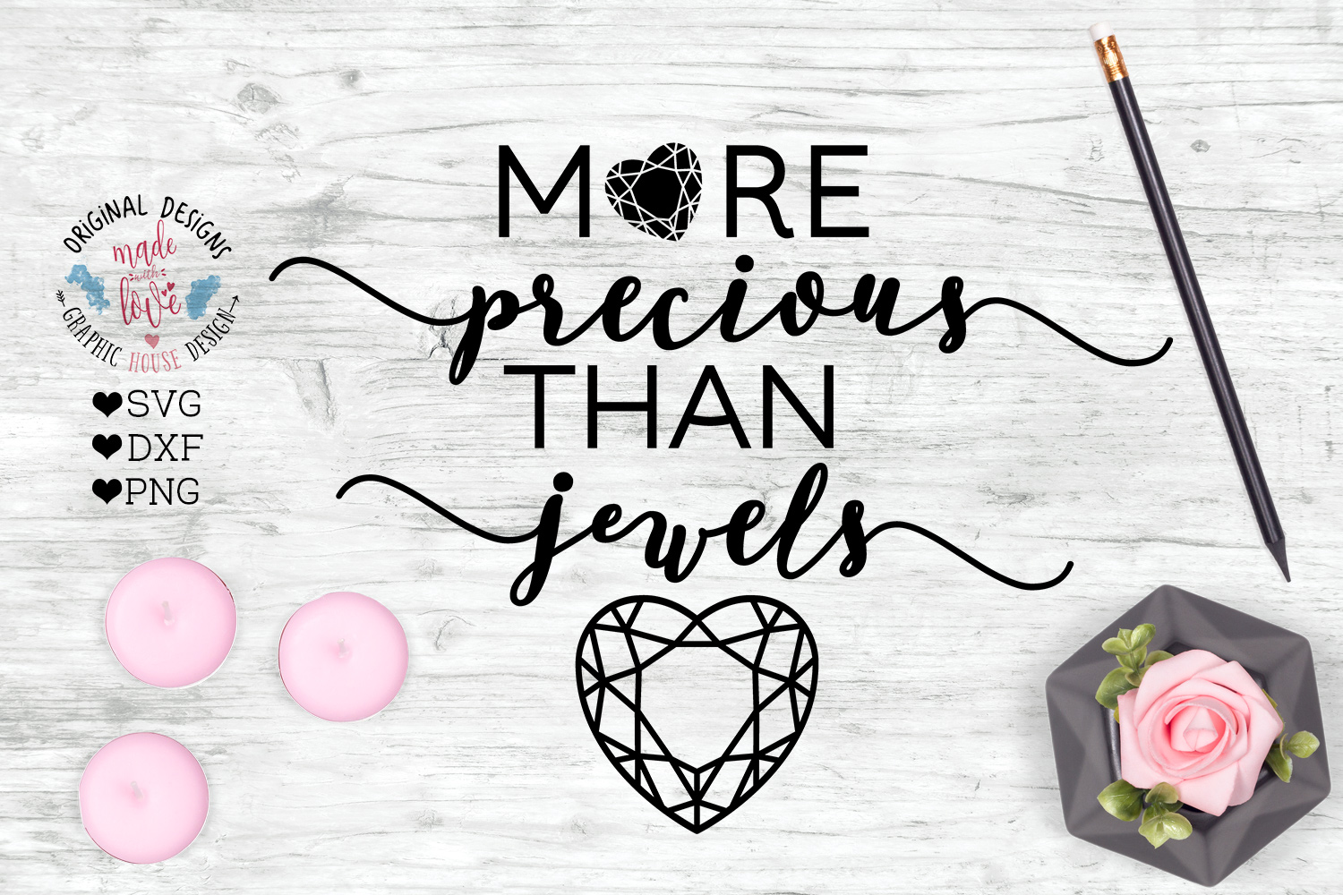 More Precious than Jewels - Bible Verse Cut File example image 1
