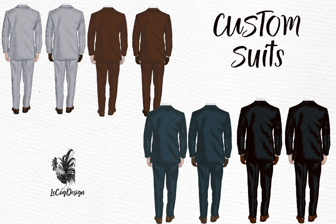 Groom clipart Wedding clipart Men in suit Engagement clipart example image 2