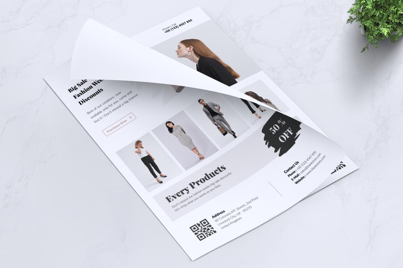 BALNK Minimal Fashion Flyer example image 9
