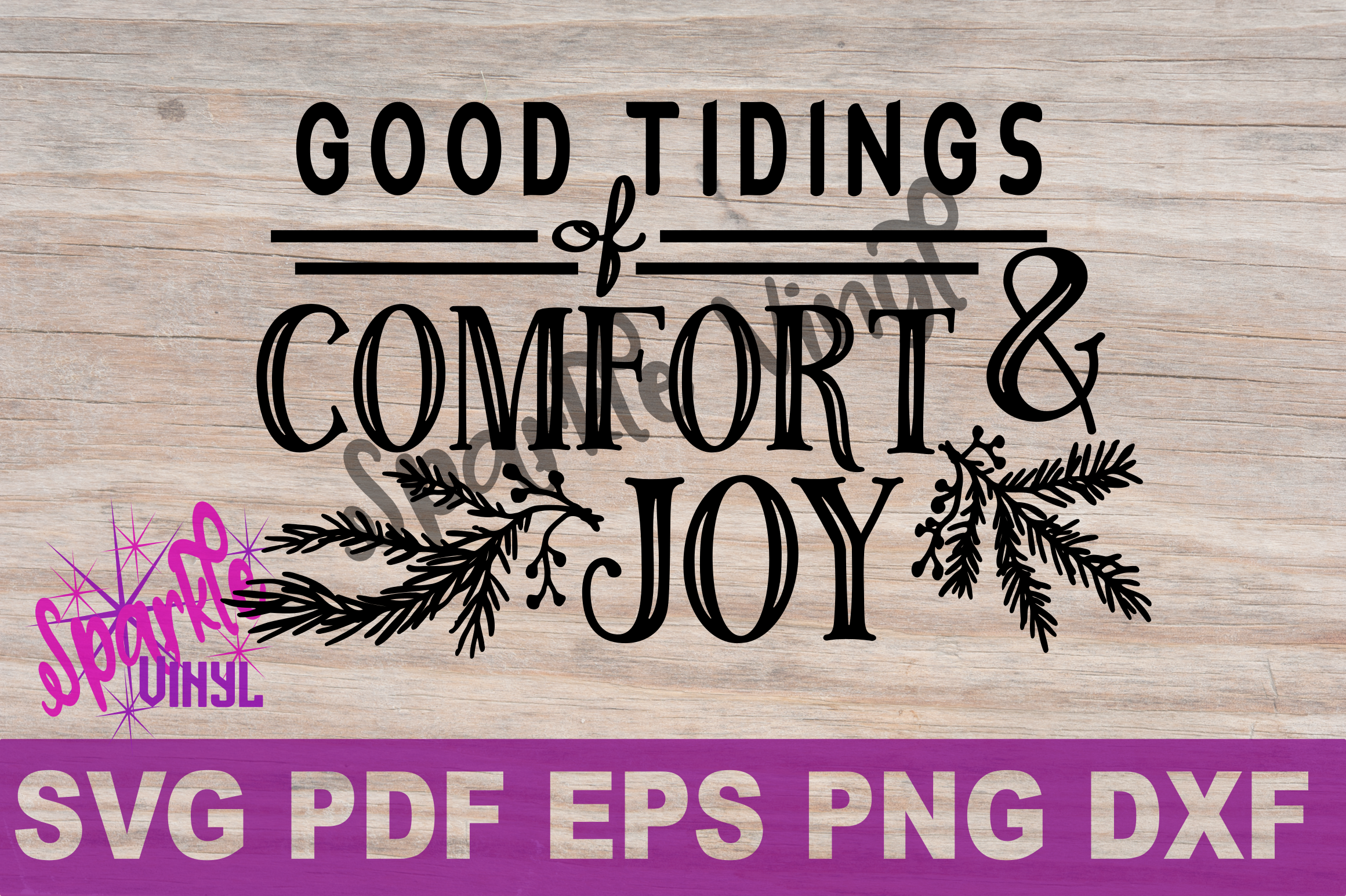 SVG Christmas Comfort and Joy DIY Sign stencil farmhouse example image 5