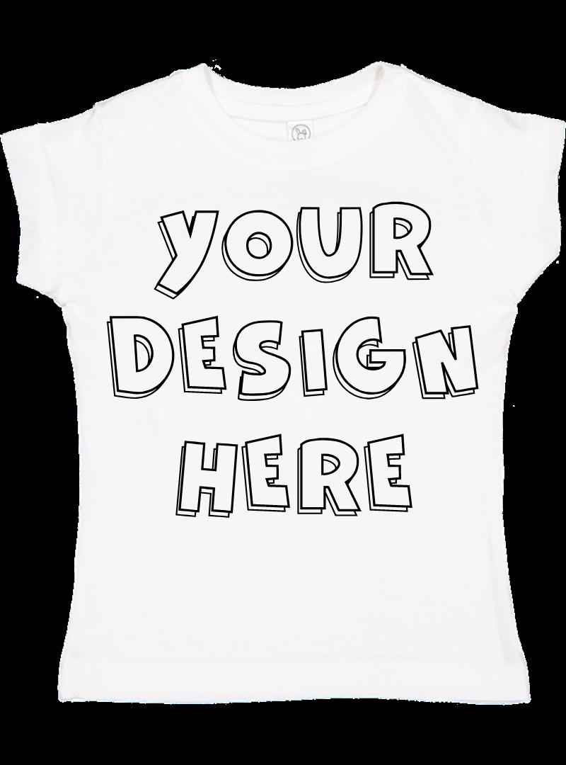 Toddler Gilrs Flat Jersey T Shirt Mockups - 17 example image 17