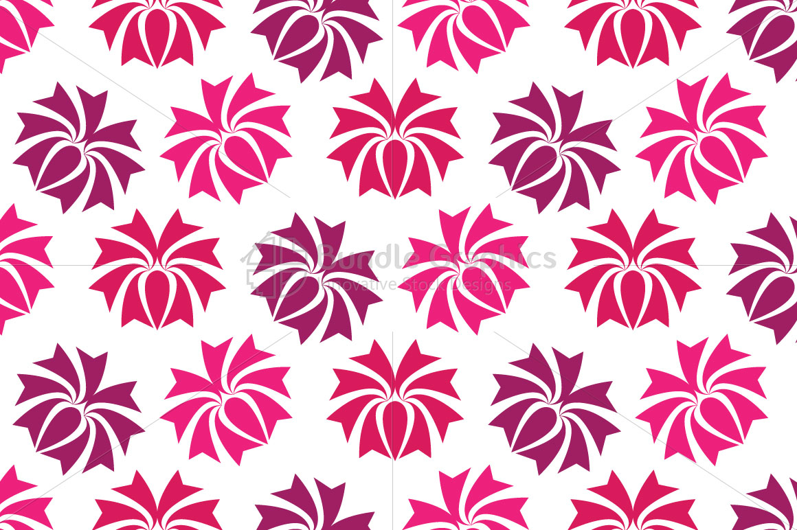 Flowers - Seamless Pattern example image 2