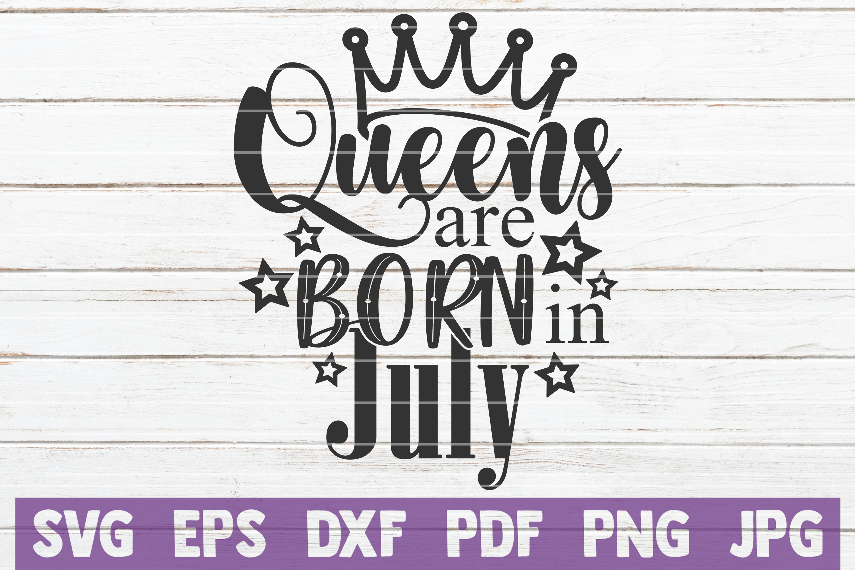 Queens Are Born In ... SVG Bundle | Birthday girl Cut Files example image 7