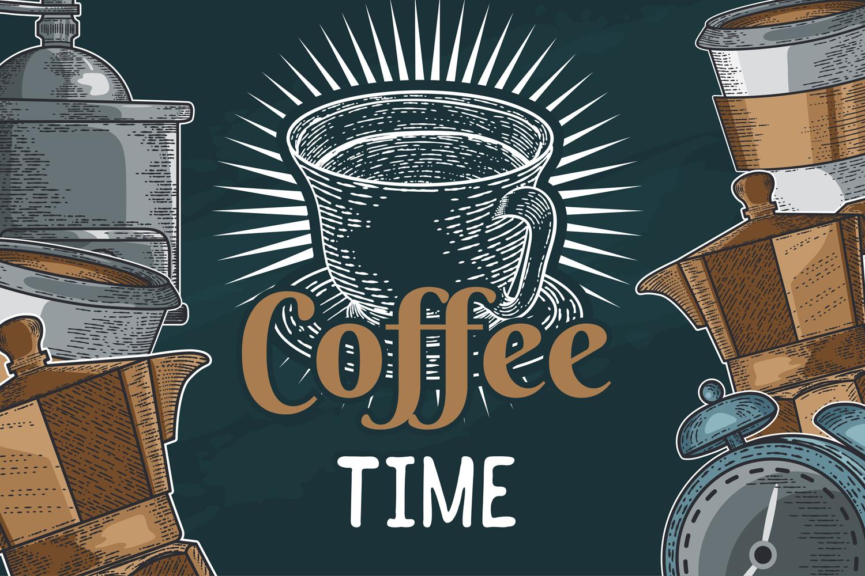 15 designs - Coffee restaurant brochure vector, coffee shop example image 7