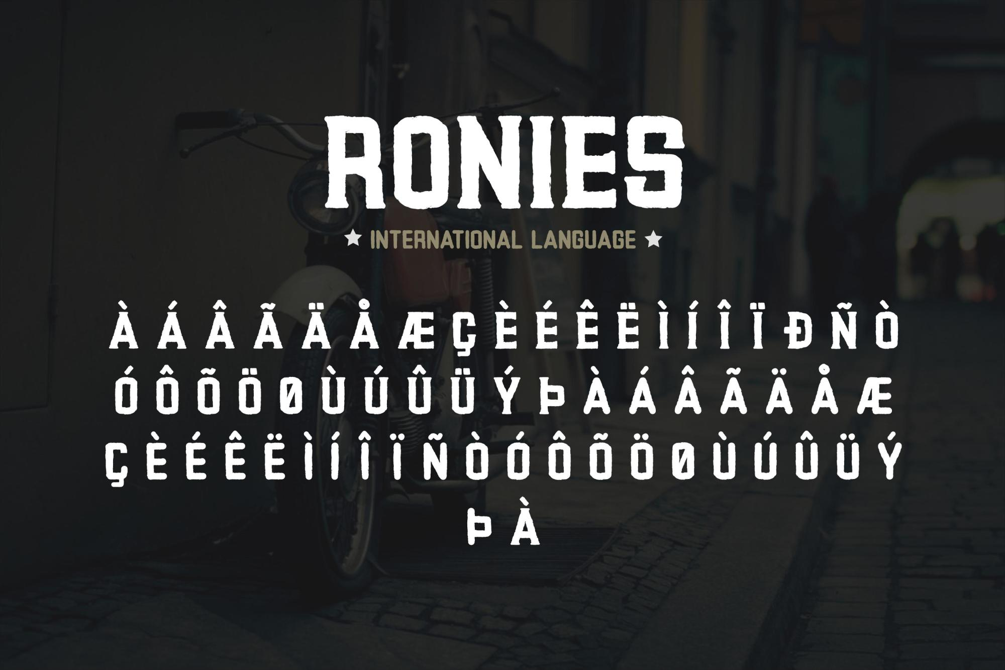Ronies Vintage Font example image 4