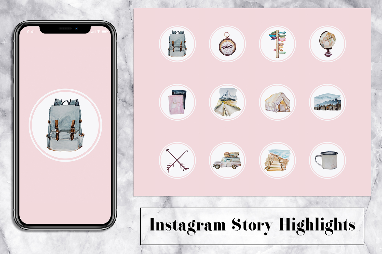 Hike Instagram Story Icons example image 1