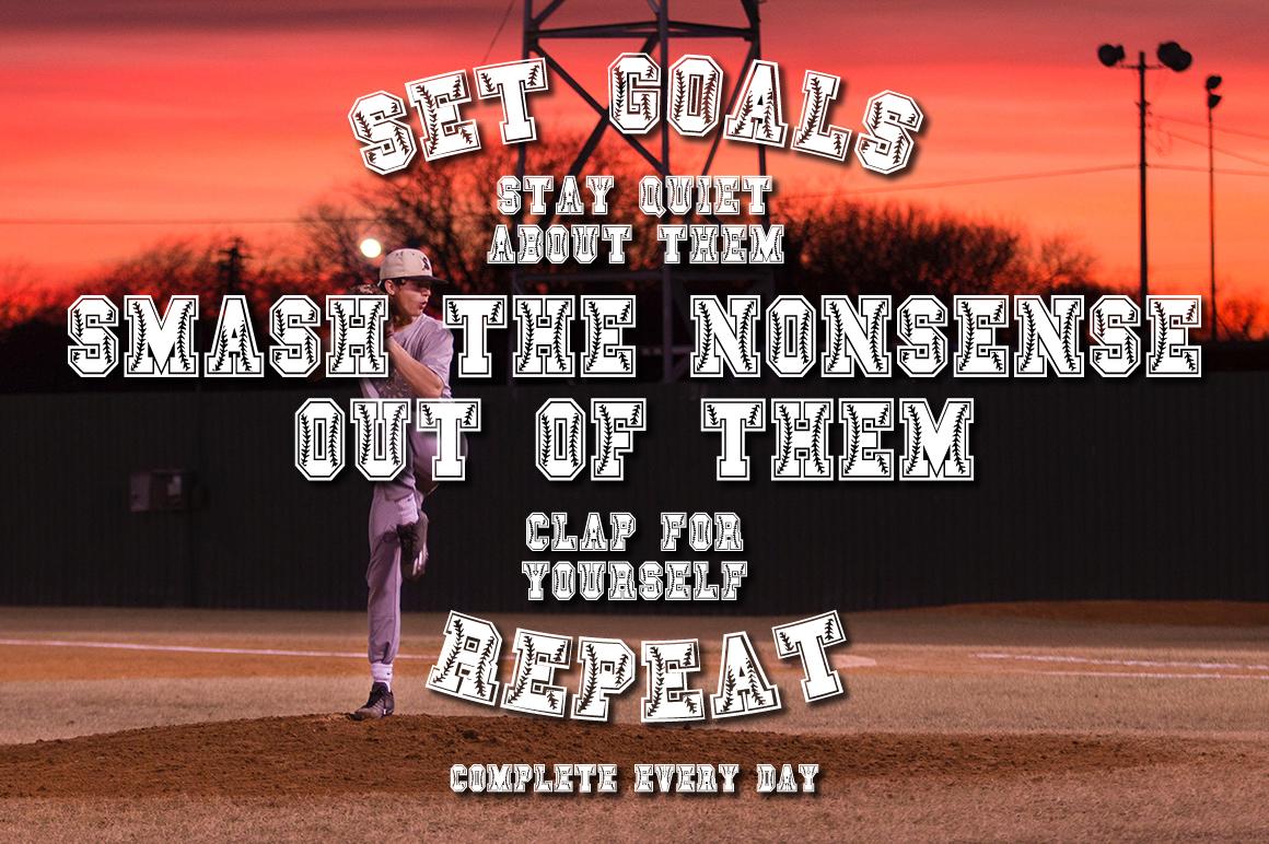 Baseball & Softball Font example image 4