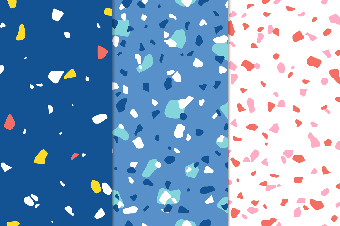 12 Terrazzo Seamless Patterns example image 4