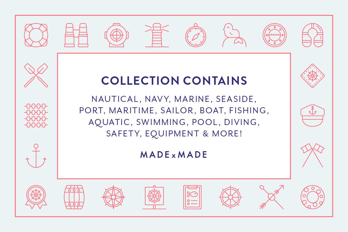 Line Icons - Nautical example image 3