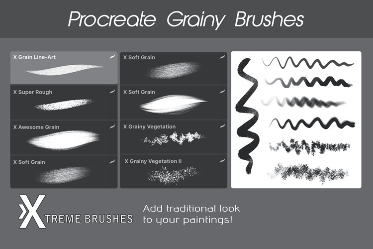 Procreate Grain Brushes example image 3