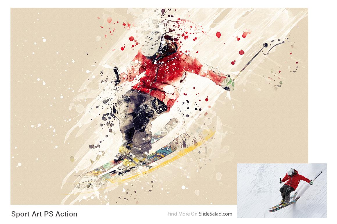 Sports Modern Art Photoshop Action example image 7