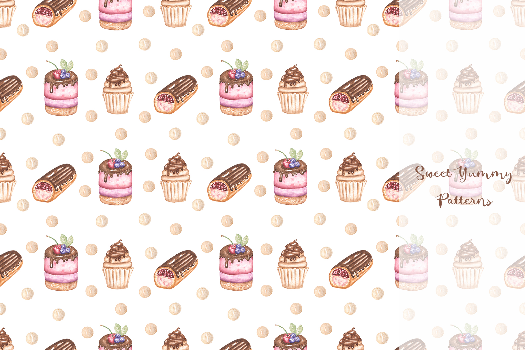 Sweet Yummy Patterns Collection example image 10