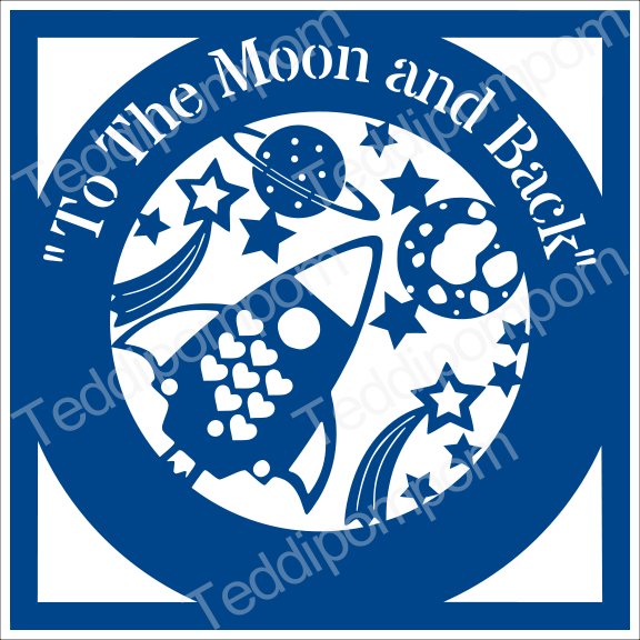 Boys SVG cutting file To The Moon and Back Outer Space svg cricut & silhouette  scrapbooking, papercutting, card making, example image 1