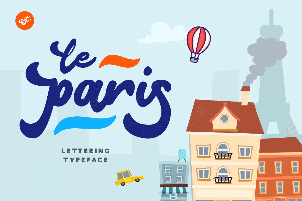 Le Paris Lettering Typeface example image 1