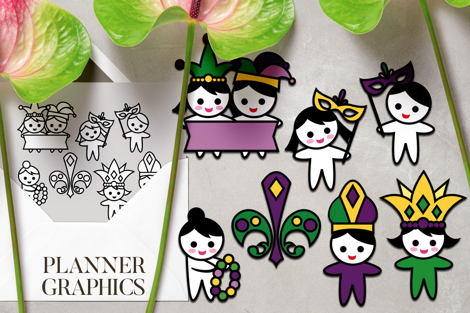 Holidays Bundle - Planner Graphic Illustrations example image 17