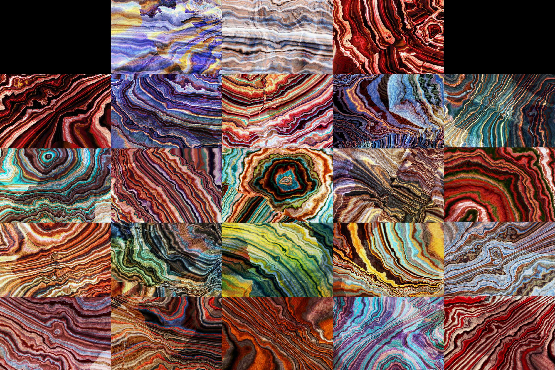 24 Tabby Onyx Gem Stone Textures - High Resolution JPG Files example image 2