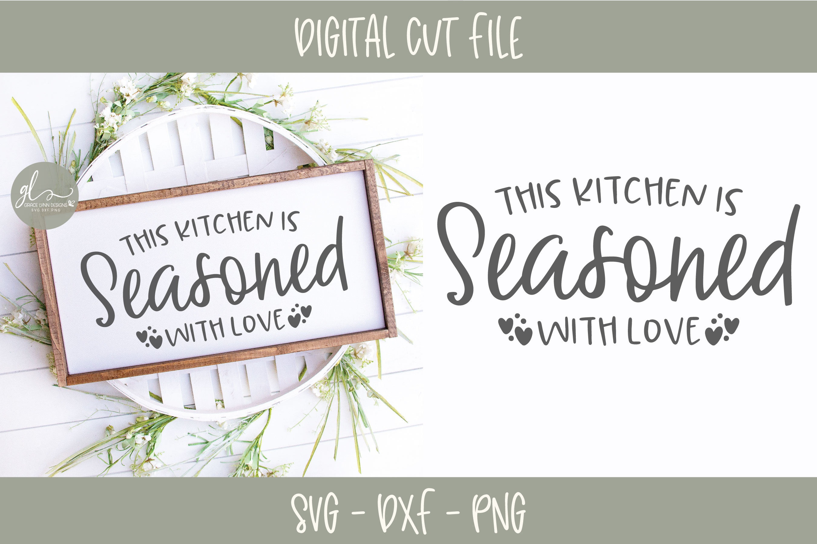 Download This Kitchen Is Seasoned With Love - Kitchen SVG Cut File ...