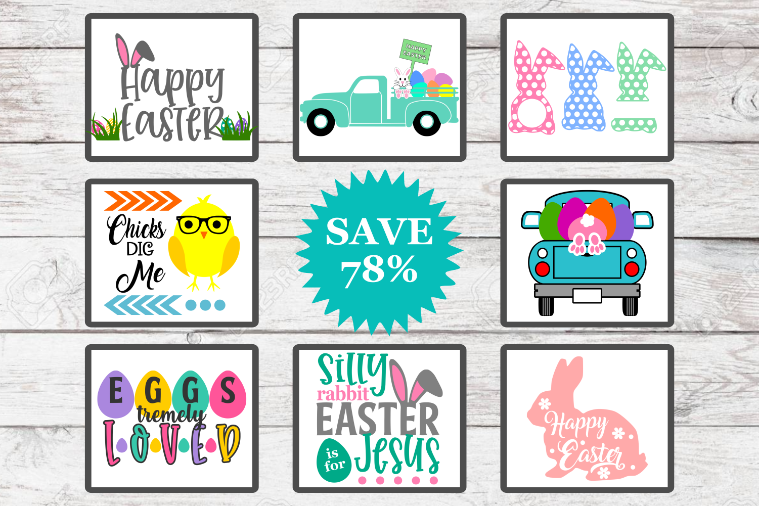 Mini Easter Bundle - A Easter SVG Cut File Collection example image 2