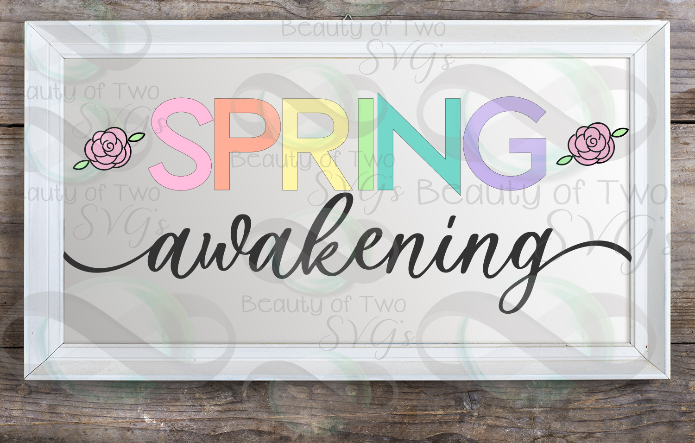 Hello Spring SVG Digital Svg Sign Bundle, 6 Spring Designs example image 5