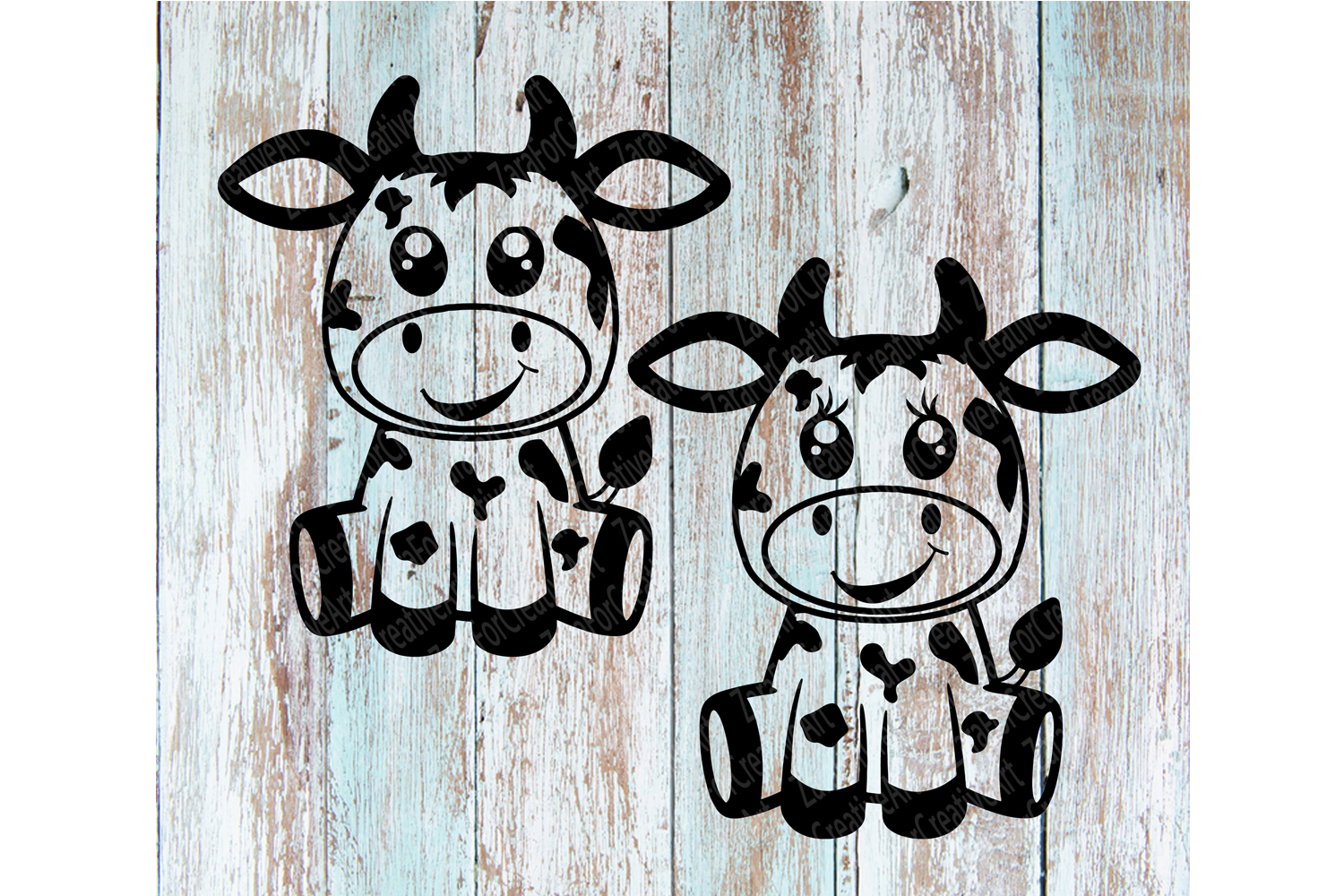 cute cow Zentangle svg example image 2