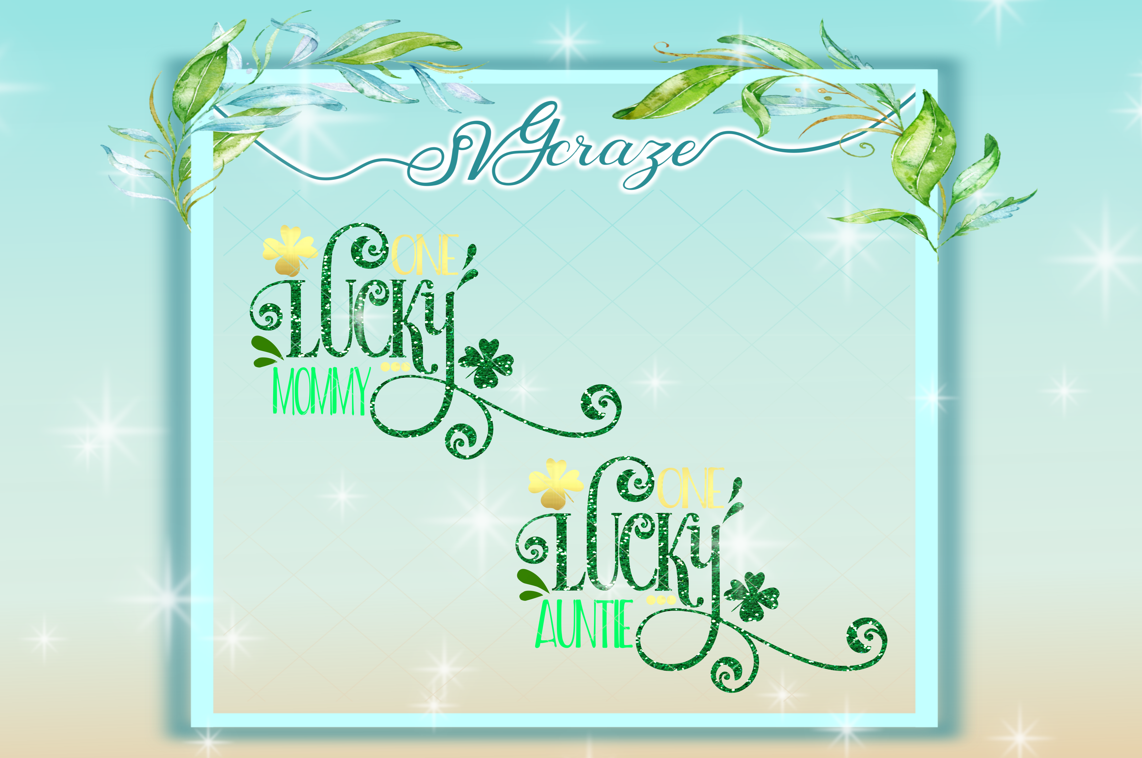 One Lucky Lady St Patricks Day SVG example image 5