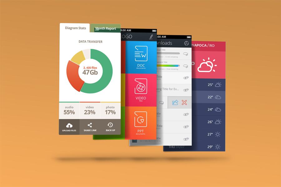 Mobile App Mock-Ups example image 3