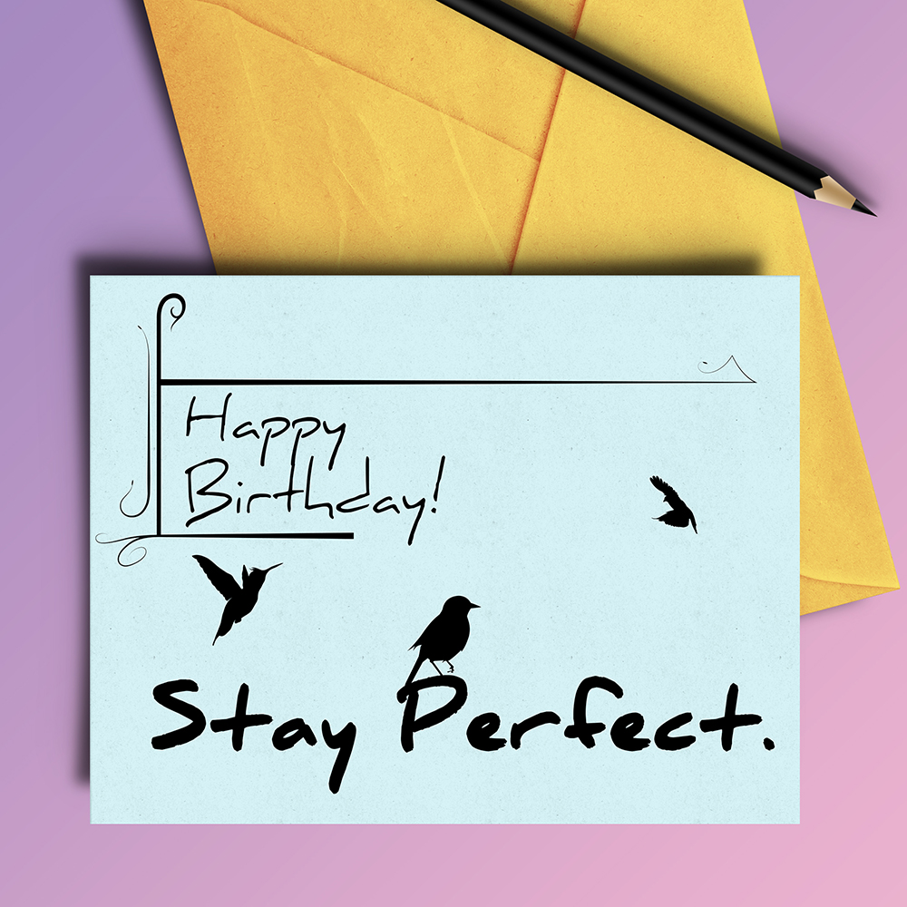 Stay Perfect Birthday Card - 4 variations example image 2