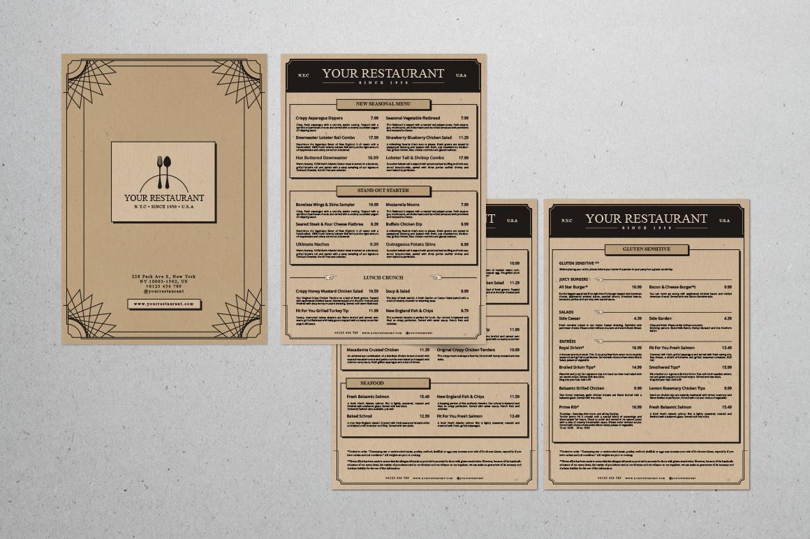 Classic Artdeco Restaurant Menu example image 3