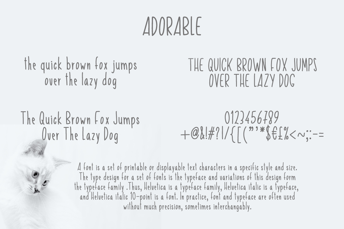 Adorable Skinny Font example image 2