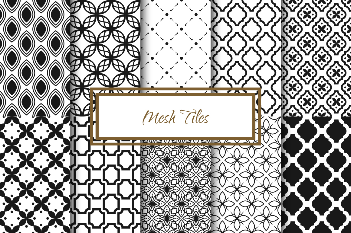 Mesh Tile Vector Patterns example image 1
