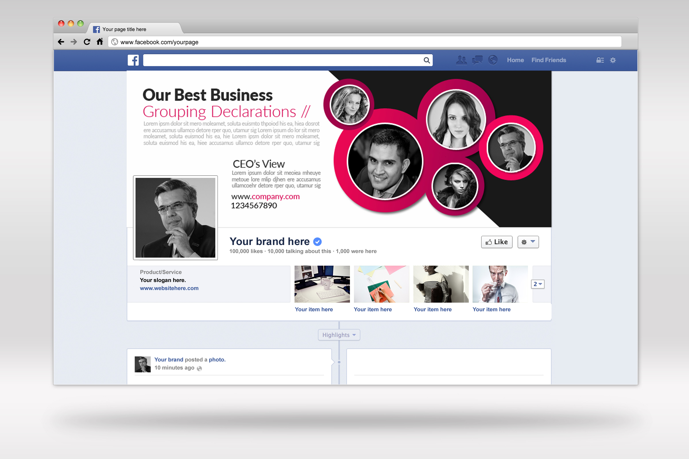 Business Facebook Timelines 09 example image 2