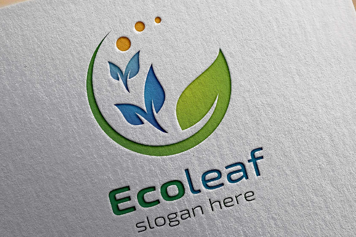 Green leaf Ecology Logo Template example image 3