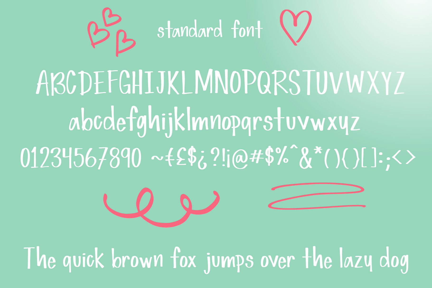 Simple Love Font example image 2