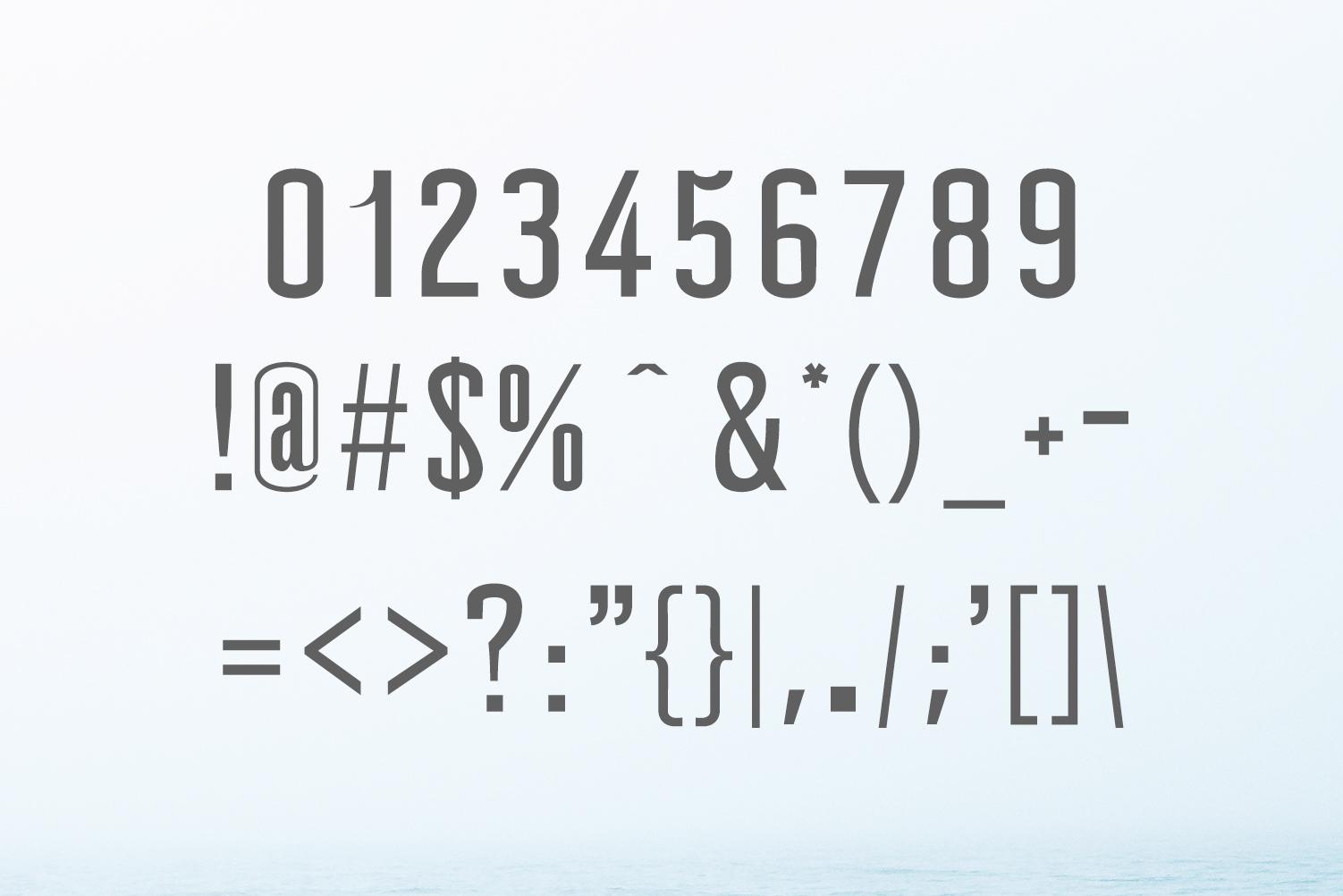 Wellston Modern Sans Serif Font Family example image 3